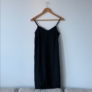 Madewell black midi dress
